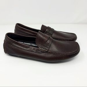 Ecco Brown Leather Slip on Loafers Euro 40